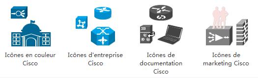 Icônes de topologie de réseau Cisco