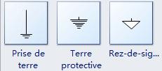 Symboles de prise de terre