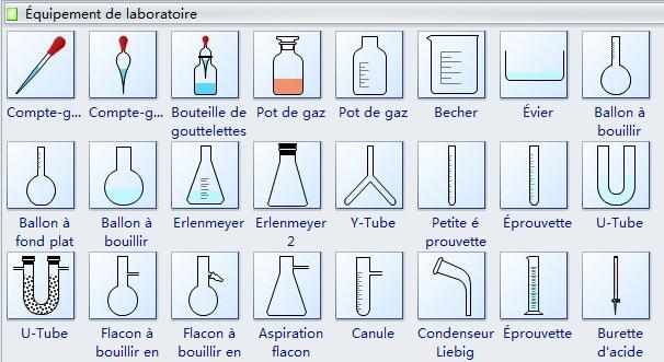 Symboles de diagramme d'équipement de laboratoire