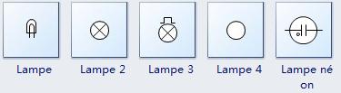 Symboles de lampe