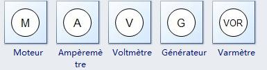 Moteur, Ammètre, Voltmètre