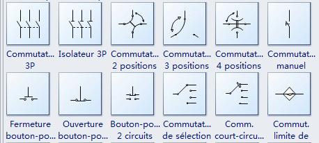 Autres symboles de commutateur