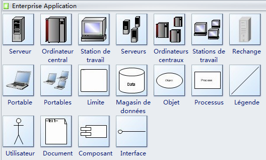 Symboles d'application d'entreprise