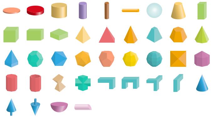 Formes de géométrie 3D