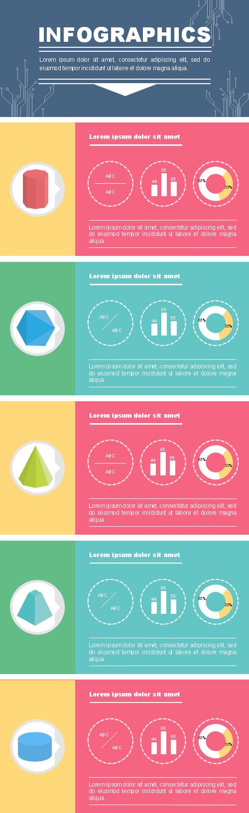 Modèle d'infographie vierge - géométrie 3D