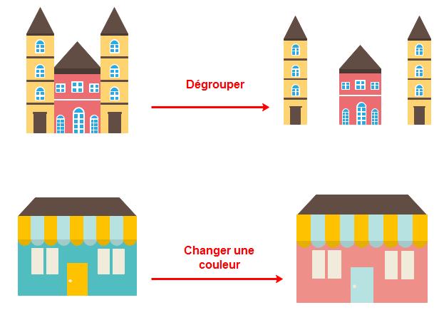 modifier librement les cliparts d'architecture