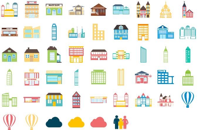 Éléments d'infographie d'architecture 1