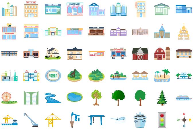 Éléments d'infographie d'architecture 2