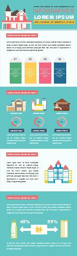 Modèle d'infographie d'architecture