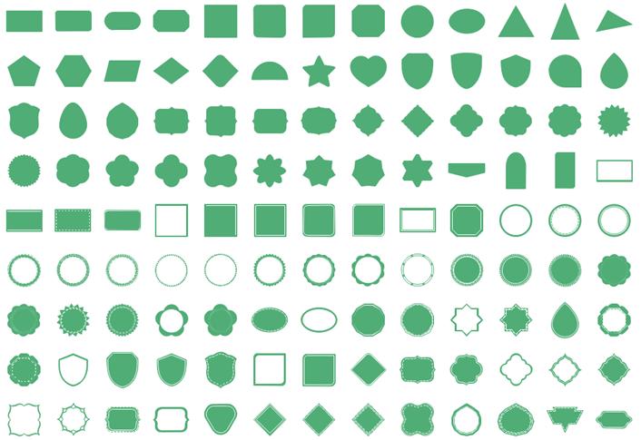 Formes simples mais nécessaires pour la conception d'infographie