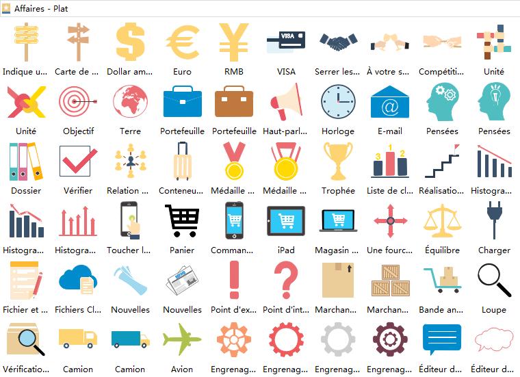 éléments d'infographie sur les affaires