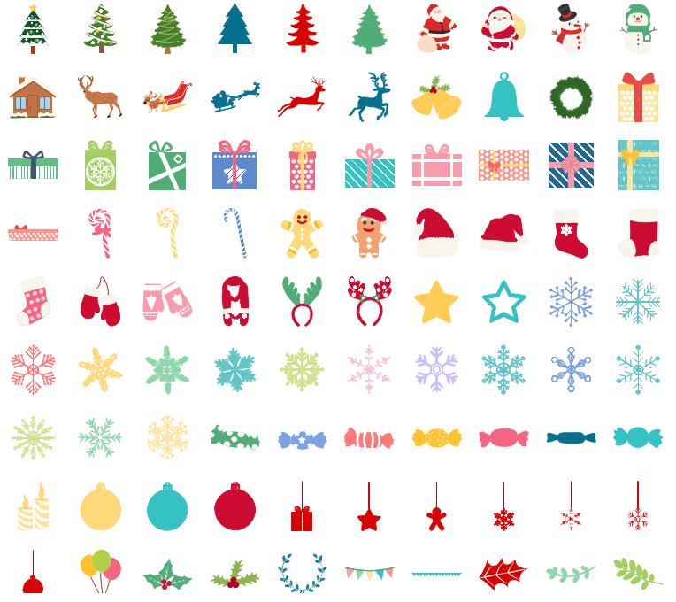 Éléments vectoriels d'infographie de Noël