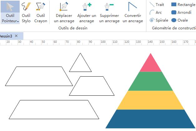 Créer de nouvelles formes pyramidales