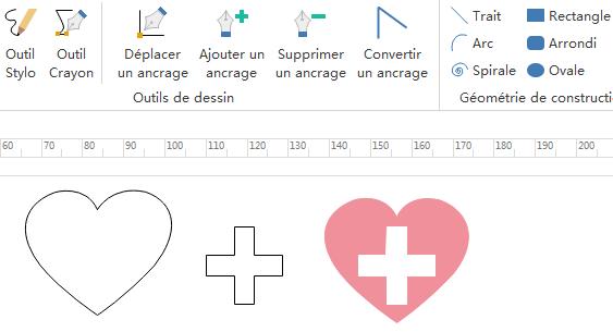 dessiner des symboles médicaux personnalisés