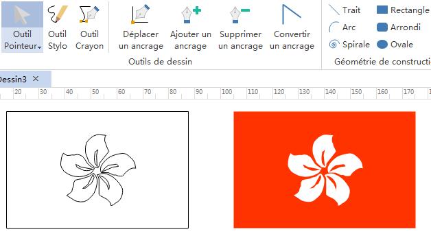 dessiner des éléments de drapeaux pour l'infographie