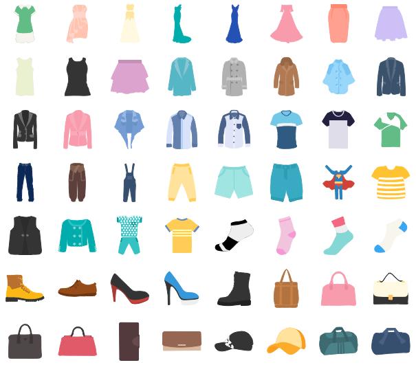 Éléments bien conçus de design de mode