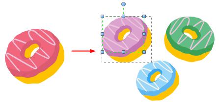 Changer la couleur d'élément d'infographie d'aliment