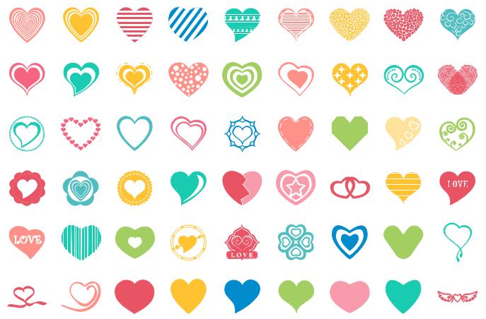 icônes vectorielles du coeur