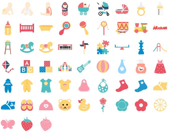 Éléments des bébés pour l'infographie