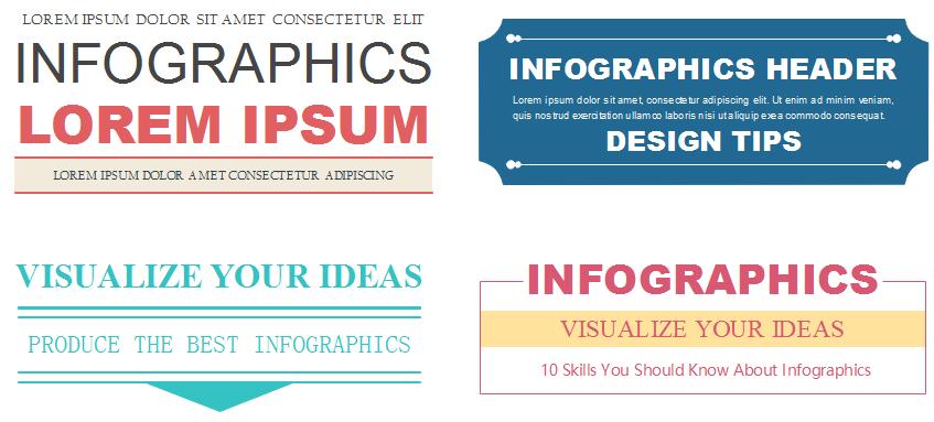 Plice d'en-tête d'infographie
