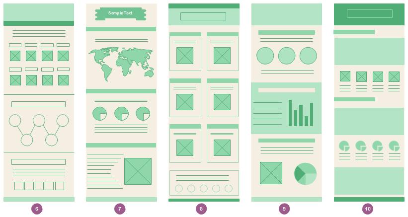 Modèles de mise en page d'infographie 2