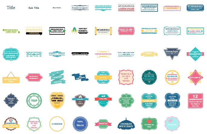 éléments de blocs de texte d'infographie
