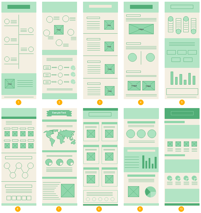 Maquette de mise en page d'infographie