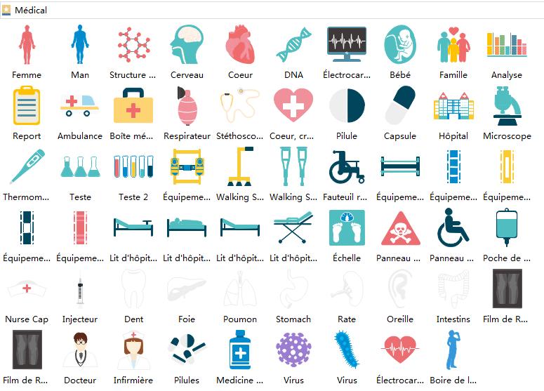 éléments d'infographie médicales