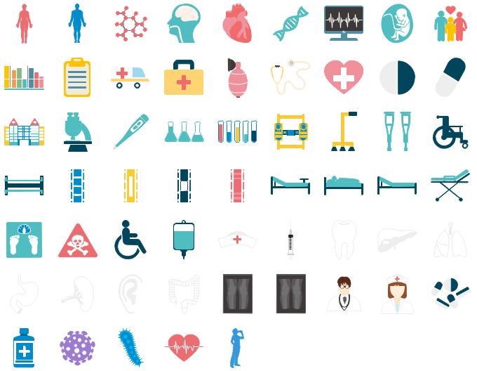 Éléments médicaux modifiables pour l'infographie