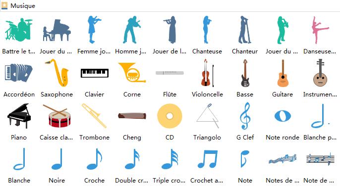 éléments d'infographie de musique