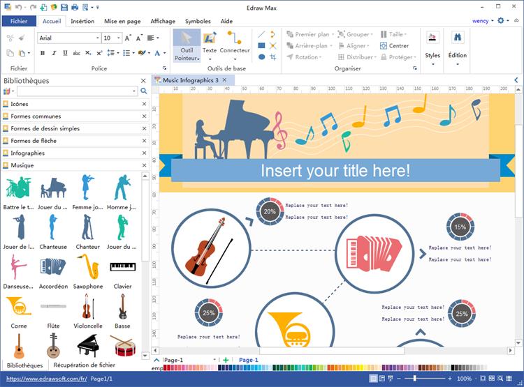 logiciel d'infographie de musique