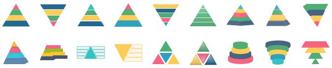 Formes pyramidales pour l'infographie