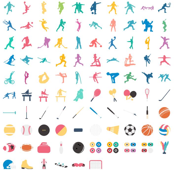 Éléments vectoriels et modifiables d'infographie sportives