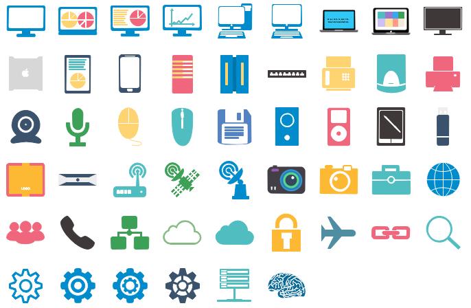 Éléments d'infographie de technologie