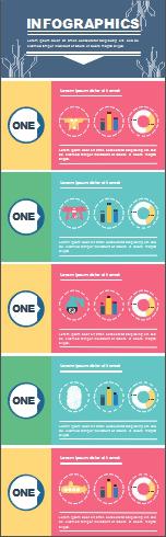 Modèle d'infographie technologique