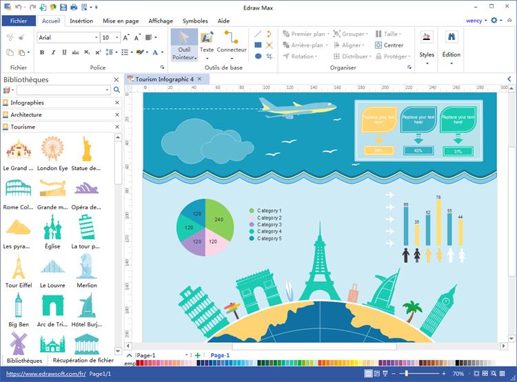 logiciel d'infographie du tourisme