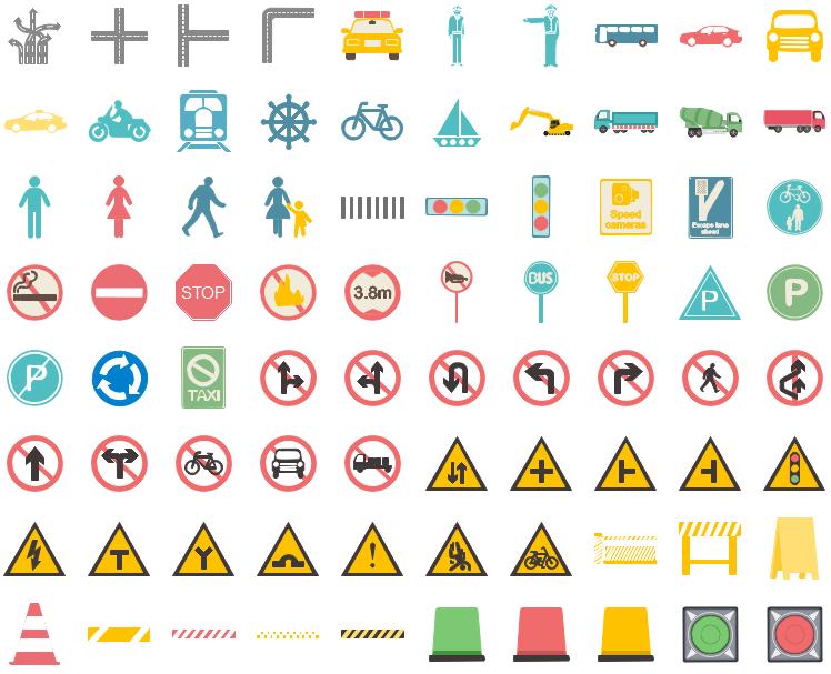 Éléments de transport pour l'infographie
