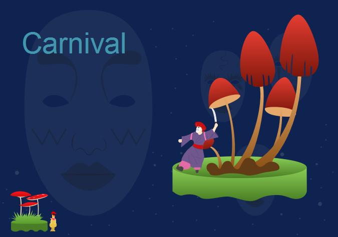 Exemple de carte de carnaval