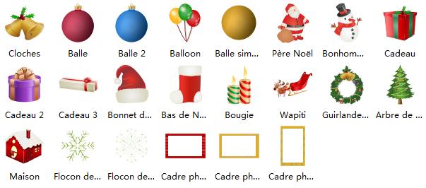 Symboles de carte de Noël