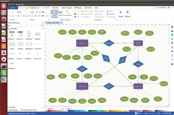 logiciel de modèle d'entité-association pour Linux