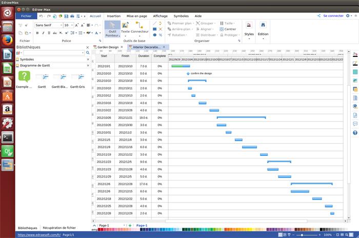 logiciel de diagramme de Gantt pour Linux