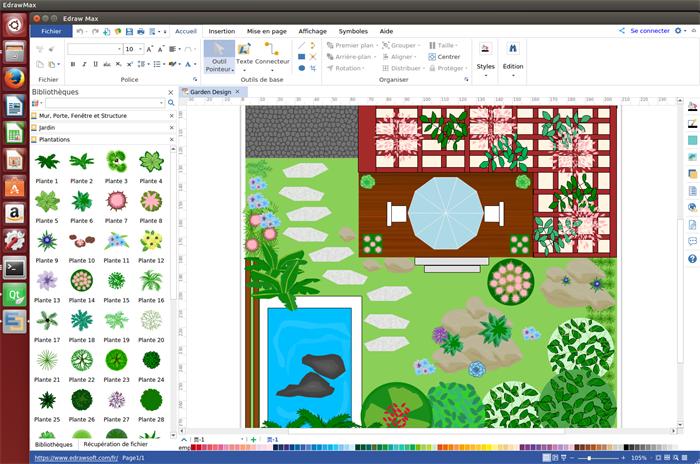 logiciel de plan de jardin pour Linux