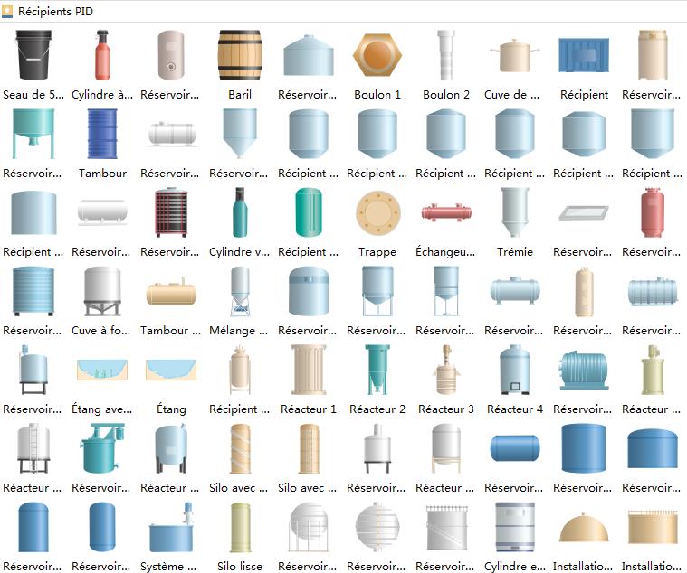 Symboles de schéma P&ID - Réservoirs