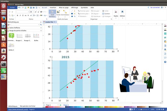 logiciel de graphiques en nuages de points pour Linux