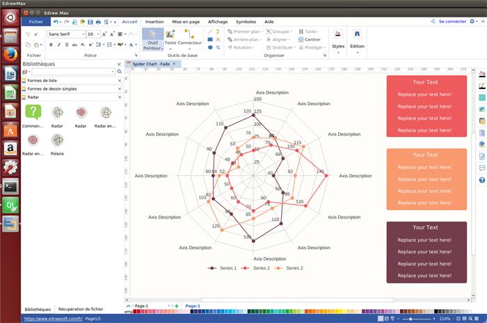 logiciel de graphique en radar pour Linux