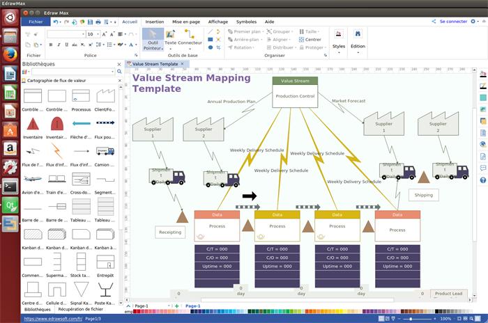 Logiciel de cartographie de flux de valeur pour Linux