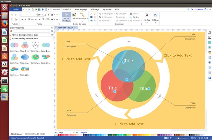 logiciel de diagramme de Venn pour Linux
