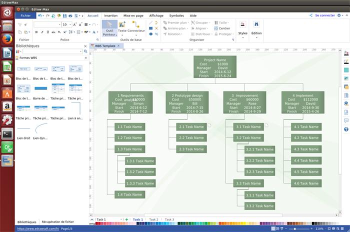 Logiciel pour le conception de WBS sous Linux