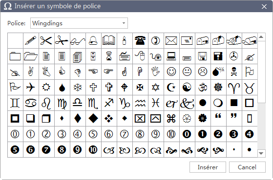 Font Symbols Database MindMaster