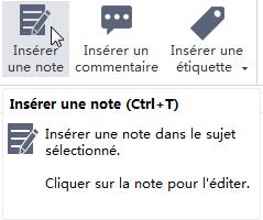Insert Note Button MindMaster